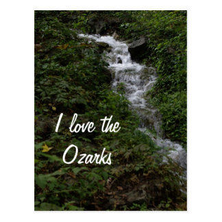 Missouri Ozark Waterfall Postcard