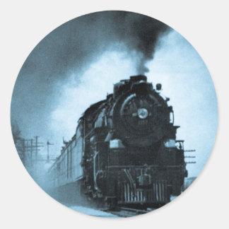Missouri Pacific Steam Passenger Cyan Round Sticker