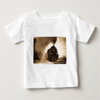 Missouri Pacific Steam Passenger Sepia Baby T-Shirt