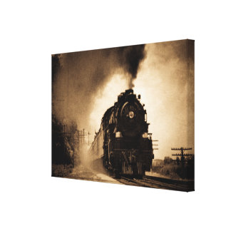 Missouri Pacific Steam Passenger Sepia Canvas Print