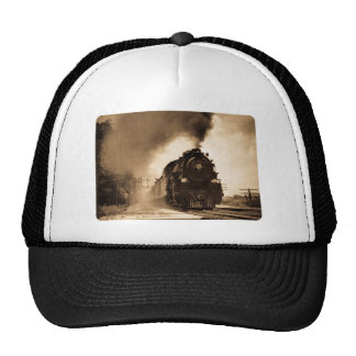 Missouri Pacific Steam Passenger Sepia Trucker Hat