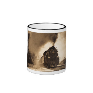 Missouri Pacific Steam Passenger Sepia Ringer Coffee Mug