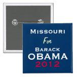 MISSOURI para el botón de la campaña de OBAMA 2012