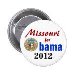 Missouri para Obama 2012 Pin Redondo 5 Cm