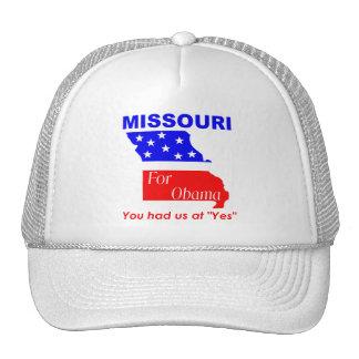 Missouri para Obama Gorro