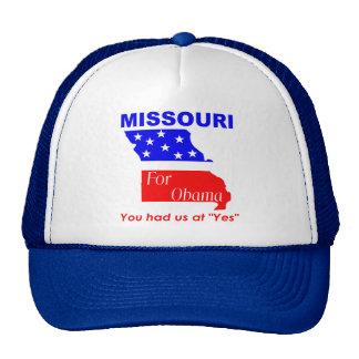 Missouri para Obama Gorras