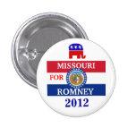 MISSOURI para Romney 2012 Pin