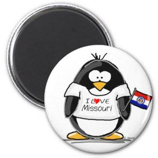 Missouri penguin refrigerator magnet