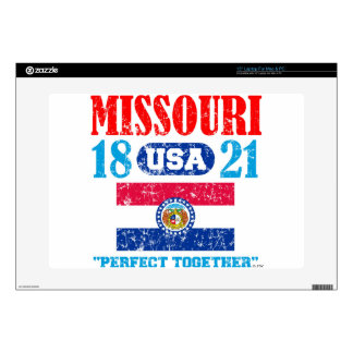 """MISSOURI PERFECT TOGETHER DISTRESSED PRODUCTS 15"""" LAPTOP SKINS"""
