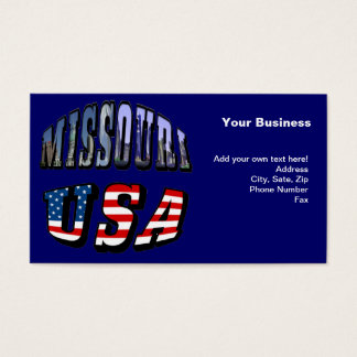 Missouri Picture and USA Text Business Card