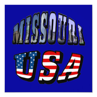 Missouri Picture and USA Text Card