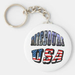 Missouri Picture and USA Text Key Chains