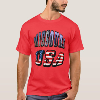 Missouri Picture and USA Text Shirt
