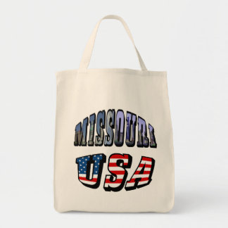 Missouri Picture and USA Text Tote Bag
