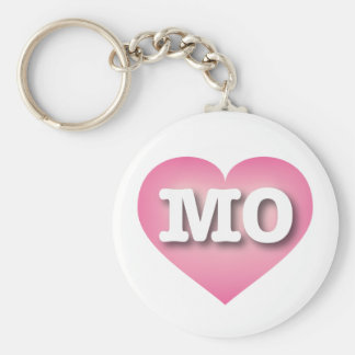 Missouri pink fade heart - Big Love Keychain