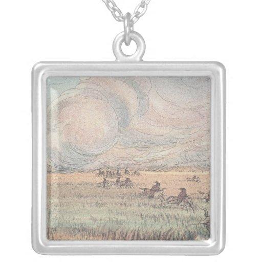 Missouri prairie fire custom necklace
