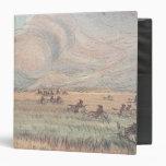Missouri prairie fire vinyl binder