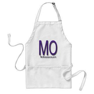 Missouri  purple adult apron