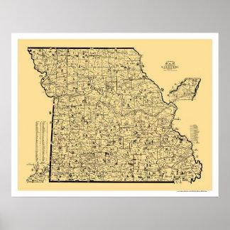 Missouri Railroad Map 1897 Posters
