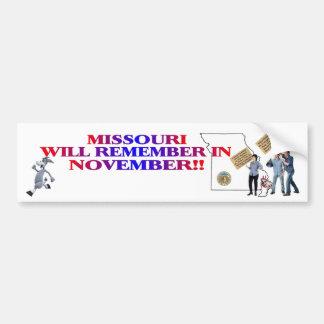 Missouri - Return Congress To The People!! Bumper Stickers