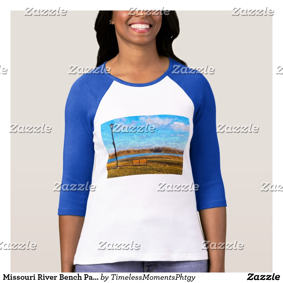 Missouri River Bench Painterly T-Shirt - Best Selling Long-Sleeve Street Fashion Shirt Designs