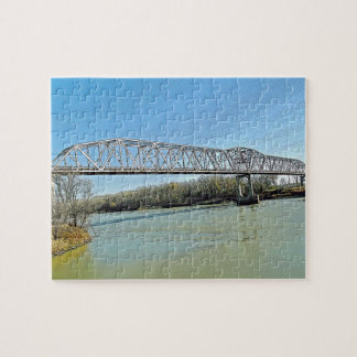 Missouri River Truss Bridge Jigsaw Puzzle