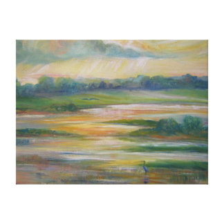 Missouri River Wetlands  Dinner for Two Canvas Print
