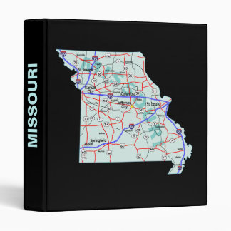 Missouri Road Map Avery Binder