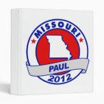 Missouri Ron Paul 3 Ring Binder