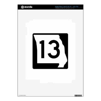 Missouri Route 13 iPad 3 Decals