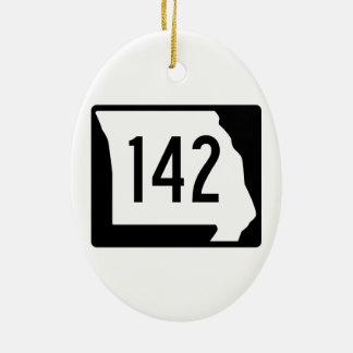 Missouri Route 142 Ceramic Ornament