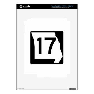 Missouri Route 17 iPad 3 Decal