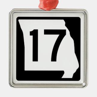 Missouri Route 17 Metal Ornament