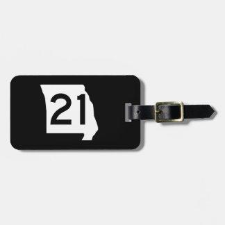Missouri Route 21 Luggage Tag