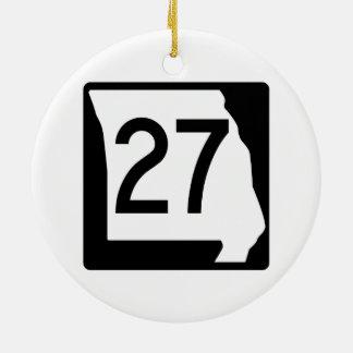 Missouri Route 27 Ceramic Ornament