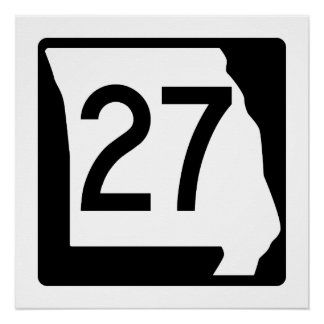 Missouri Route 27 Poster