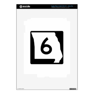 Missouri Route 6 Decal For iPad 3