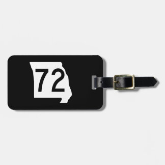 Missouri Route 72 Bag Tag