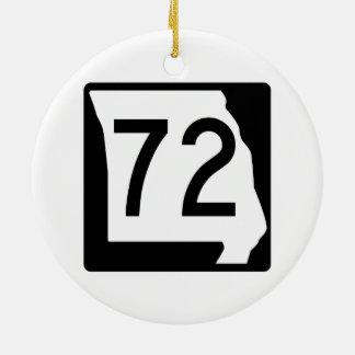 Missouri Route 72 Ceramic Ornament