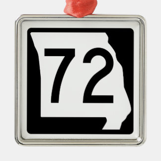 Missouri Route 72 Metal Ornament
