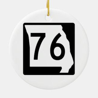 Missouri Route 76 Ceramic Ornament