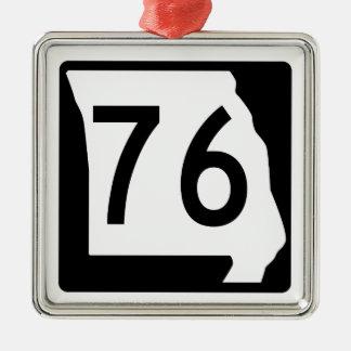 Missouri Route 76 Metal Ornament