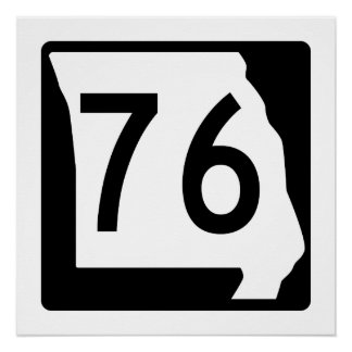Missouri Route 76 Poster