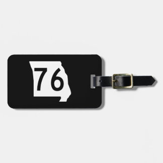 Missouri Route 76 Tag For Luggage