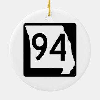 Missouri Route 94 Ceramic Ornament