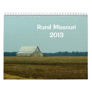 Missouri rural 2013 calendario