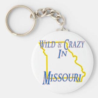 Missouri - salvaje y loco llavero redondo tipo pin