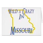 Missouri - salvaje y loco tarjeton
