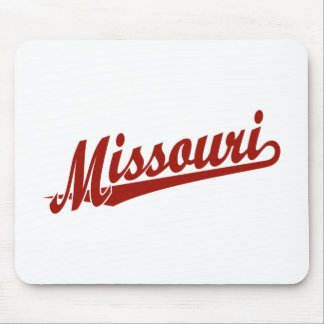 Missouri script logo in red mouse pad