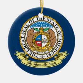 Missouri Seal Ceramic Ornament